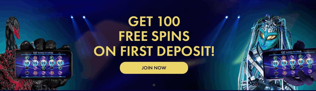 Free spins at Masked Singer UK online casino