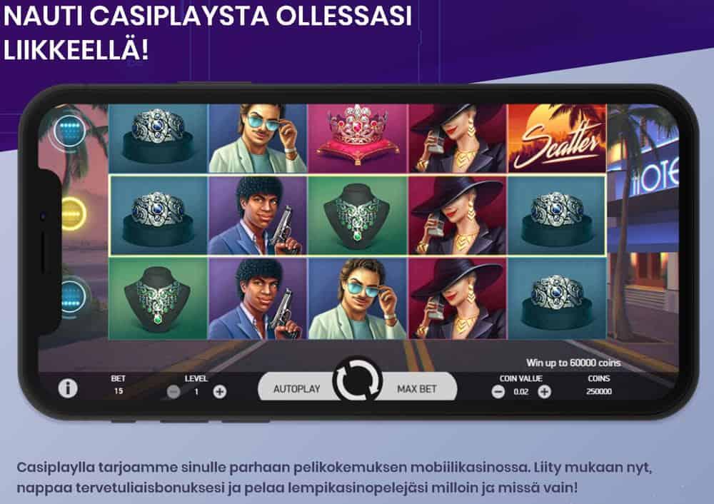 Casiplay mobiiliystävällinen online-kasino