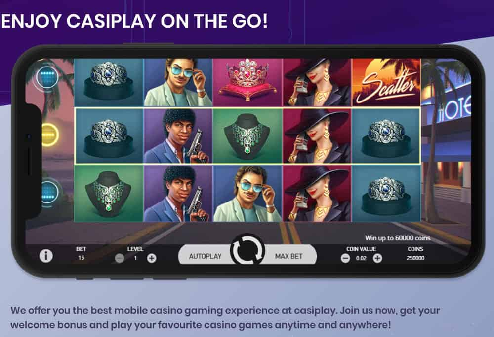 Casiplay mobilfreundliche Online-Spielbank