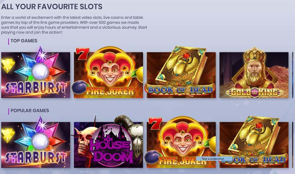 Casiplay beliebtes Online-Automatenspielen.