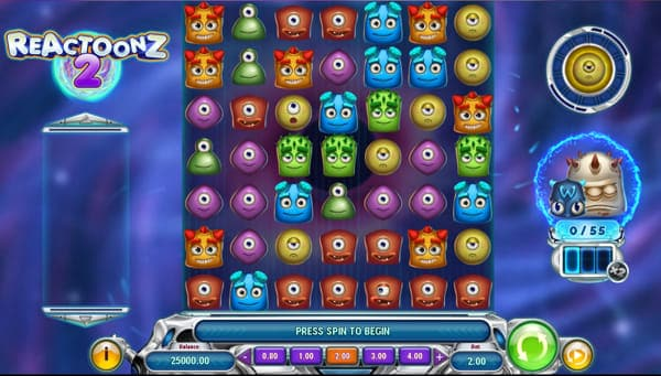 Reactoonz 2 by Play'n Go