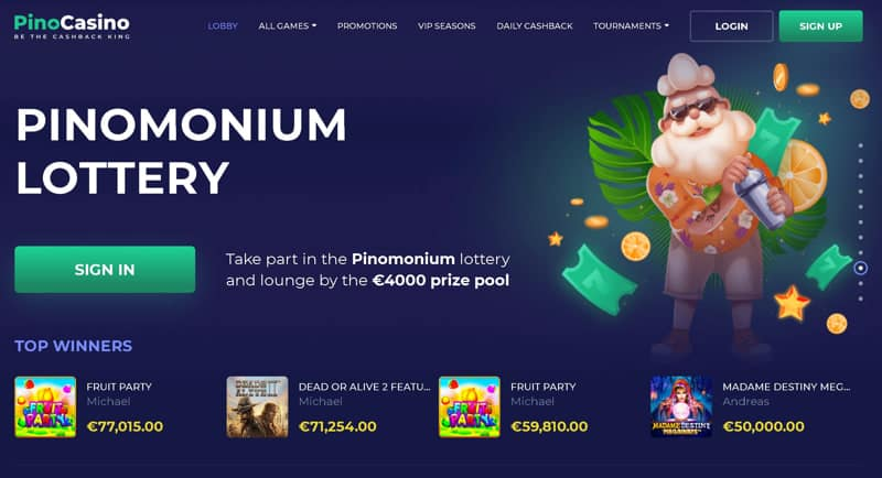 New and modern Pay n Play casino by Pino