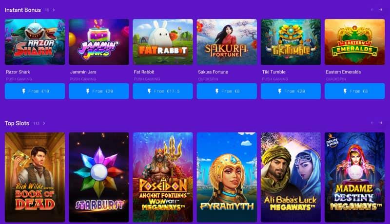 Pixel.bet offers instant bonus feature on slots.